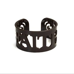 Jewelry - Laser cut 'FAITH' cuff